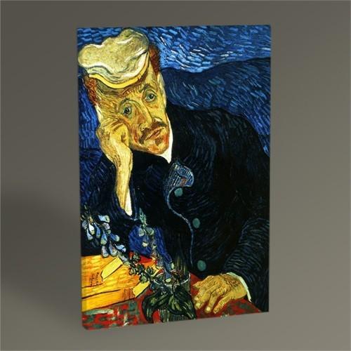 Tablo 360 Vincent Van Gogh-Portrait Of Doctor Gachet 45X30