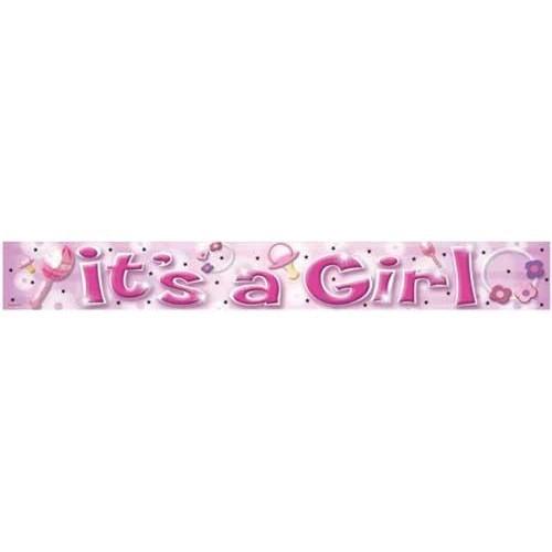 Parti Paketi It's A Girl Folyo Banner