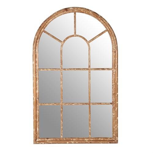 Altıncı Cadde Ahşap Kenarlı Pencere Ayna 86X137 Cm