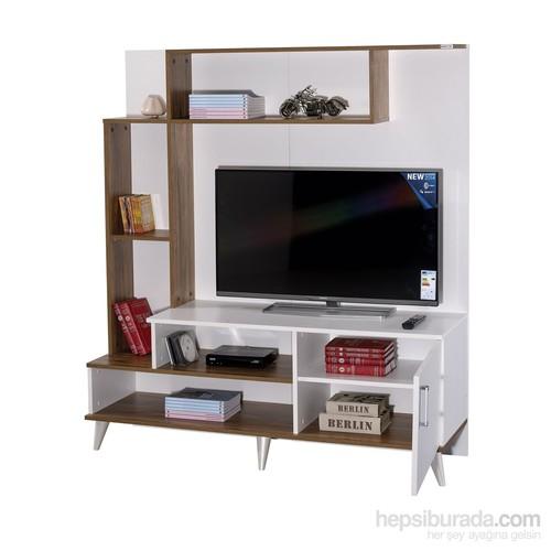 Alpino Ottowa Tv Ünitesi - Ceviz / Beyaz