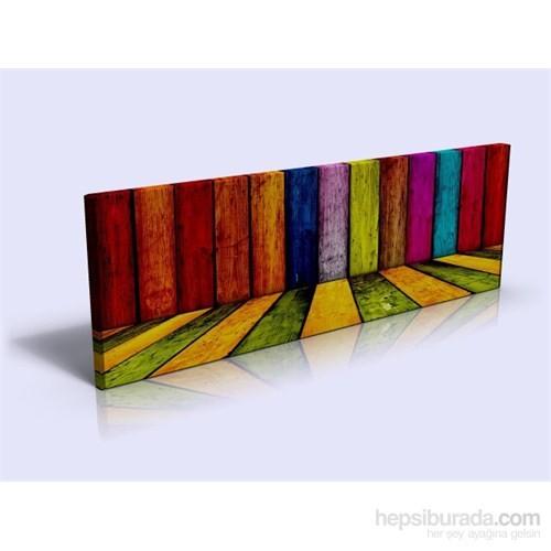 Arte Renkli Tahtalar Kanvas Tablo