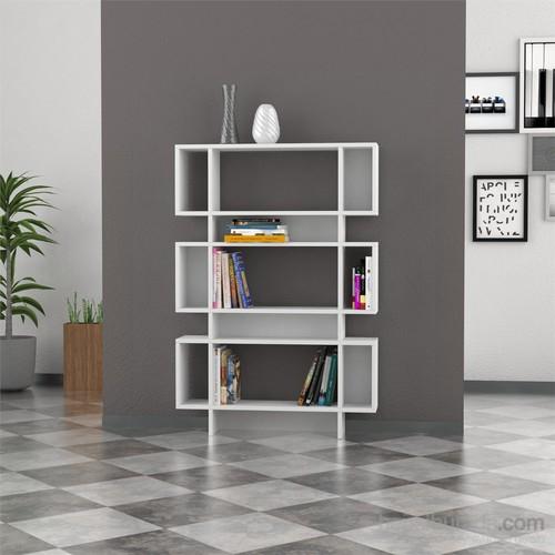 Decortie Poligon Kitaplık Beyaz