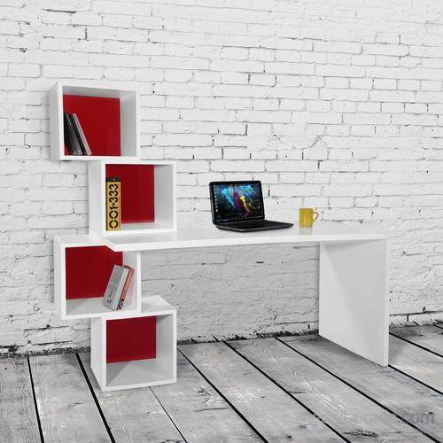 Decortie Balance Çalışma Masası Kırmızı