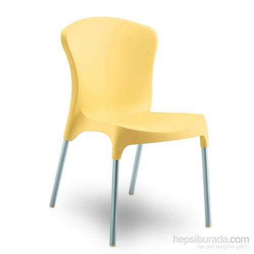 Stella Sandalye Alüminyum Ayak Sarı