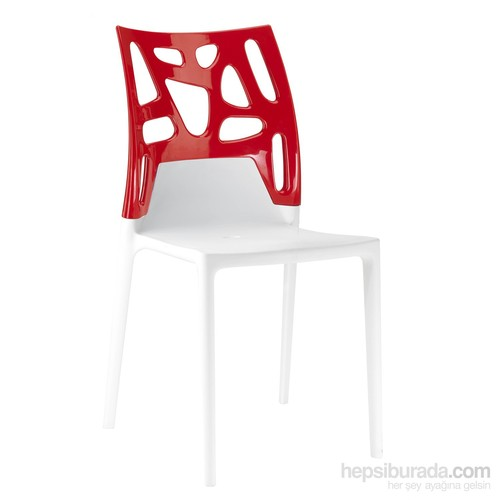 Papatya Ego Rock Sandalye Beyaz Kırmızı