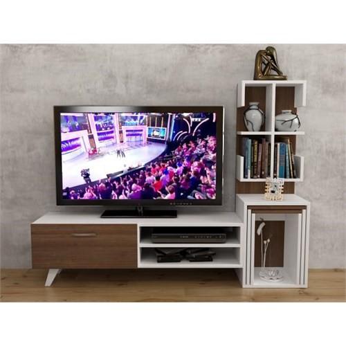 Hepsiburada Home Işık Gizli Zigon Sehpalı Tv Ünitesi - Ceviz