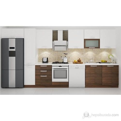 Kenyap 133009 Highgloss PVC Kapaklı Mutfak 421cm