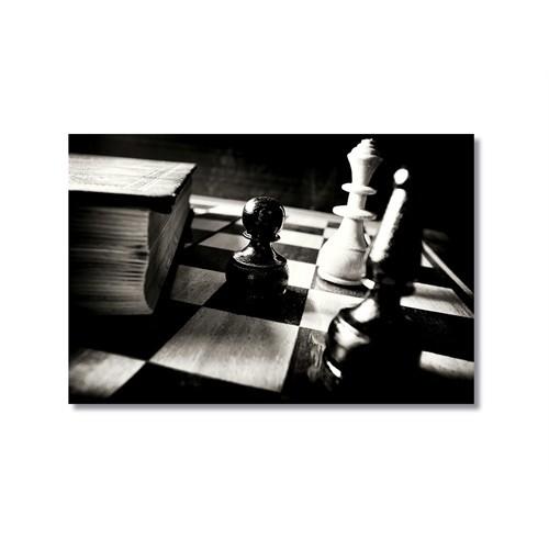 Tictac Satranç Taşları 2 Kanvas Tablo - 60X90 Cm