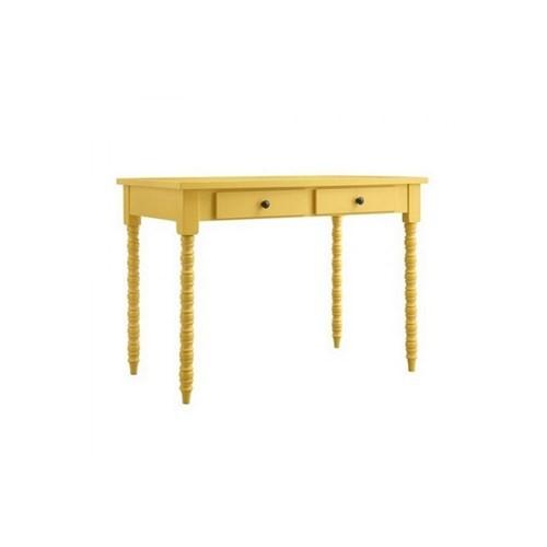 Woodenbend Belda Sarı Çalışma Masası (80X120)