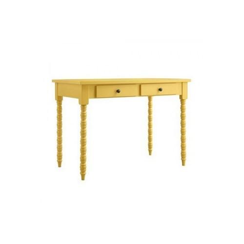 Woodenbend Belda Sarı Çalışma Masası (90X140)