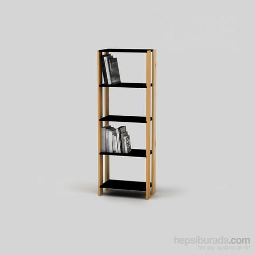 Onlywood Brige One Kitaplık Siyah