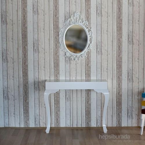 Te Home Lande Dresuar+Ayna Takımı Beyaz-Beyaz