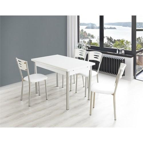 Bestline Samba Yandan Açılır Masa Sandalye Takımı - Beyaz
