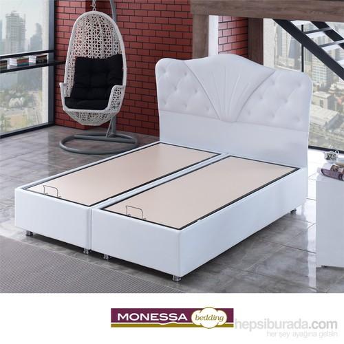 Monessa Serenita Baza Beyaz Tek Kişilik 90X190