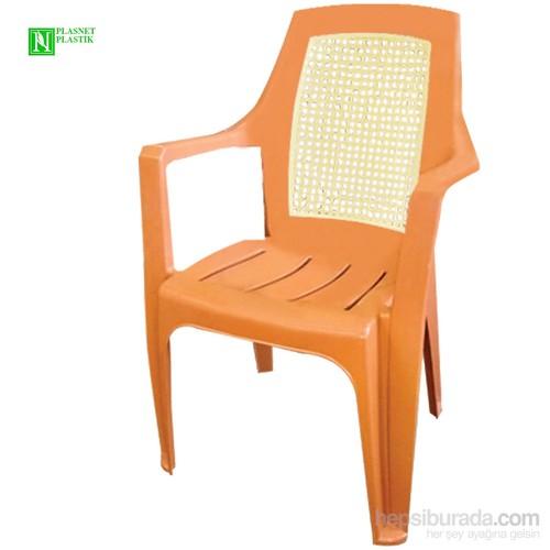 Bunjee Nirvana Çift Renkli Plastik Sandalye Kahve
