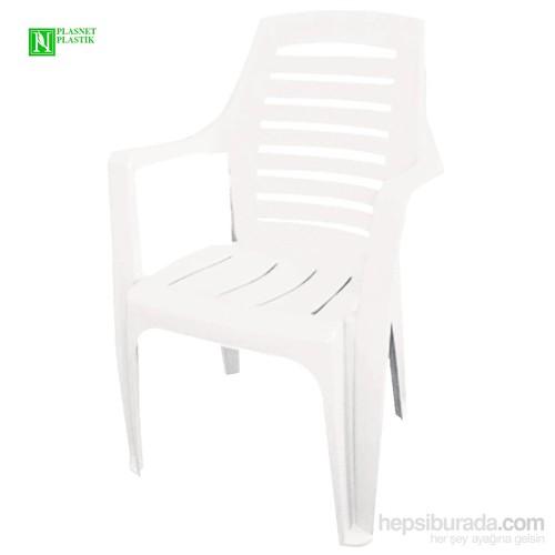 Bunjee Nirvana Lüks Plastik Sandalye Beyaz