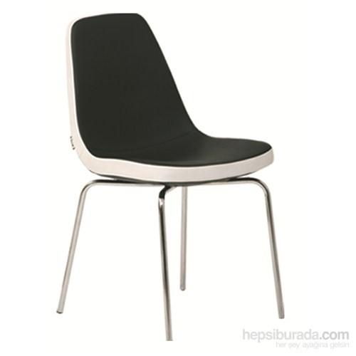 Nav Decoration Petra Sandalye Siyah/Beyaz