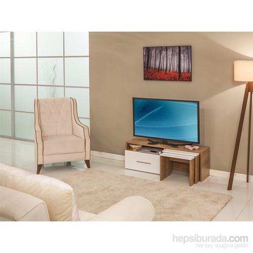 Mobetto Mango Tv Sehpası Sümela-Beyaz