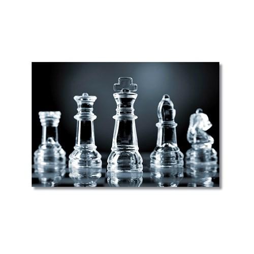 Tictac Satranç Taşları 4 Kanvas Tablo - 40X60 Cm