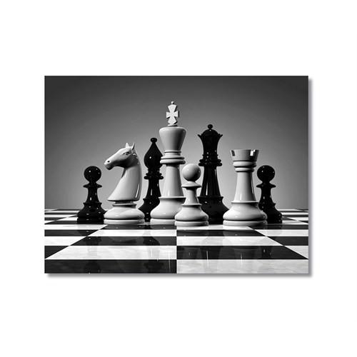 Tictac Satranç Taşları 5 Kanvas Tablo - 40X60 Cm