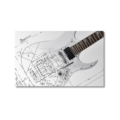 Tictac Teknik Gitar Kanvas Tablo - 40X60 Cm