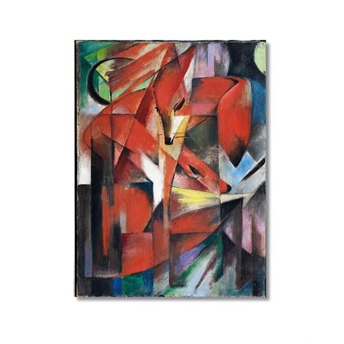 Tictac Kırmızı Tilki Kanvas Tablo - 40X60 Cm