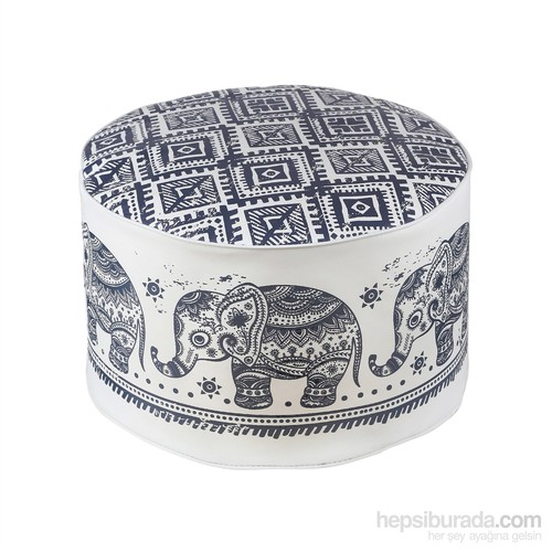 Dekorjinal Moroccan Stil Padişah Yastığı - Köşe Puf Mor53