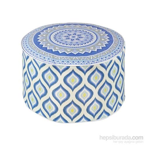 Dekorjinal Moroccan Stil Padişah Yastığı - Köşe Puf Mor57