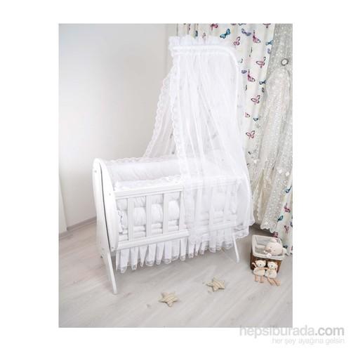 Bebekonfor Darren Beyaz Fransız Bebek Beşiği