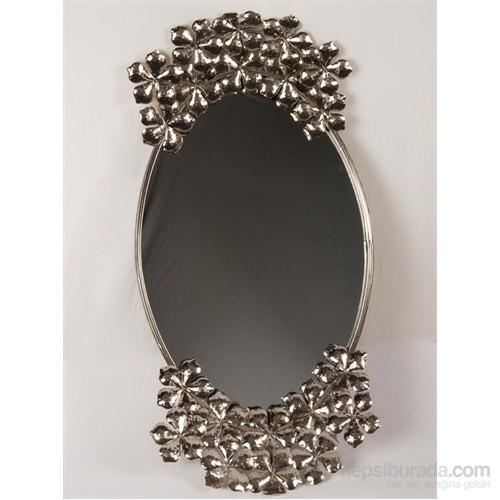 I Love Home Gümüş Papatya Duvar Aynası
