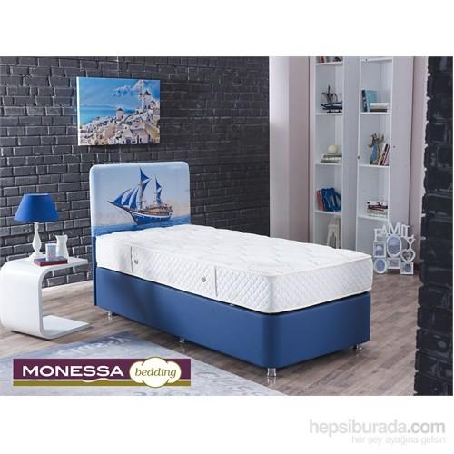 Monessa Blue Baza Başlık Seti Tek Kişilik