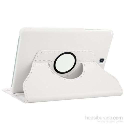 Microsonic Samsung Galaxy Tab S2 8.0'' Kılıf 360 Dönerli Stand Deri Beyaz