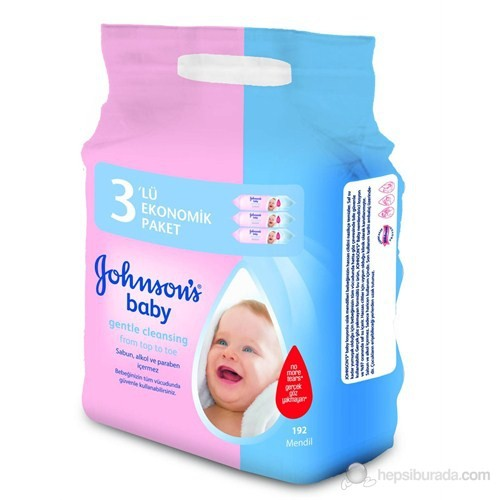 Johnsons BABY Losyonlu Islak Mendil Ekonomik 3'lü Paket 192'li -
