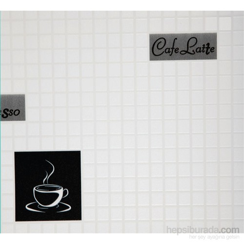 Cafe Siyah Vinyl Duvar Kaplaması
