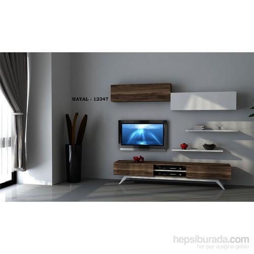 Hayal (12347) Tv Ünitesi-Leon Ceviz-Parlak Beyaz