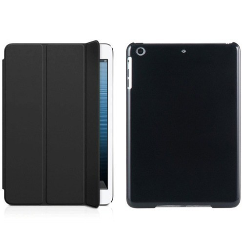 Microsonic İpad Mini 3 Smart Case + Arka Koruma 2İn1 Kılıf Siyah