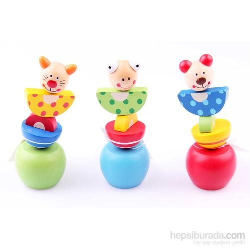 Wooden Toys 3'lü Ahşap İpli Oynar Hayvan Kukla Seti