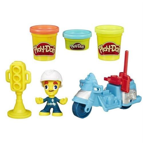 Play-Doh Town Polis Motorsikleti Ve Figür Seti B5975