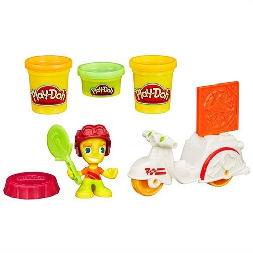 Play-Doh Town Pizza Motorsikleti Ve Figür Seti B5976
