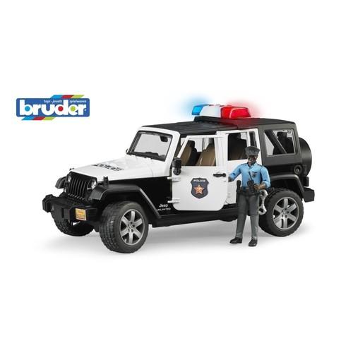 Bruder Jeep Wranger Ur Polis Aracı Ve Koyu Renk Memur