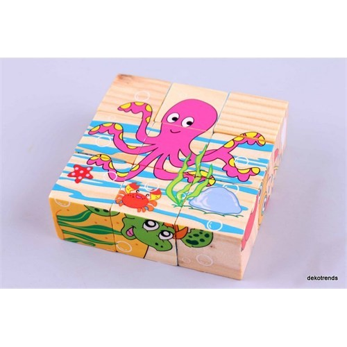 Wooden Toys Wooden Puzzle Cubes