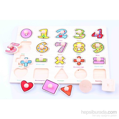 Learning Toys Ahşap Tutmalı Eğitici Yapboz