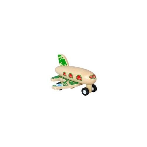 Wooden Toys Çek-Bırak Ahşap Uçak