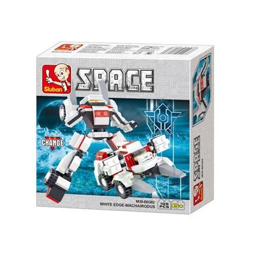 Sluban Kutulu Blok Dönüşen Robot 105 Parça
