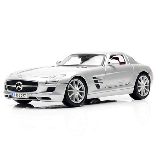 Maisto Mercedes Sls Amg 1:18 Model Araba P/E Gri