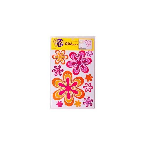 Deconation Geometrik Etiket İç İçe Çiçekler