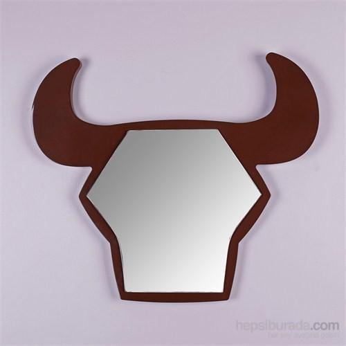 Bull Boğa Şekilli Ayna Kahverengi