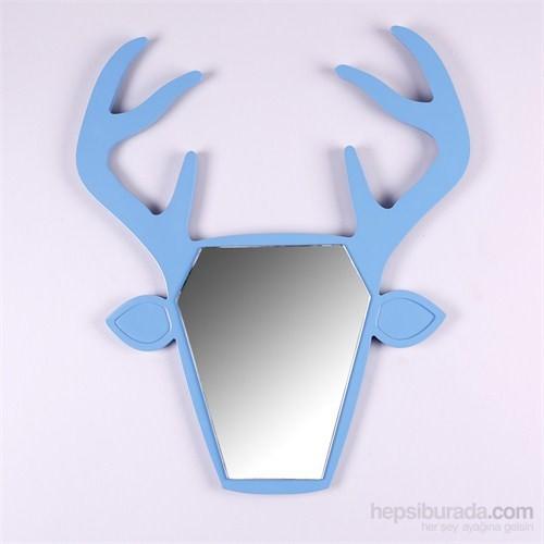 Wapiti Geyik Şekilli Ayna Mavi
