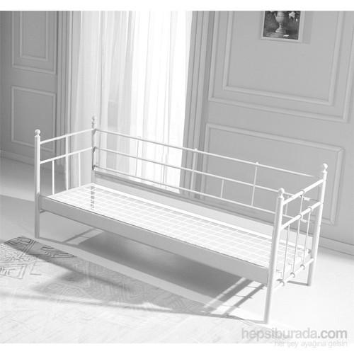 Unimet Lalas Metal Sofa 70 x 200 Beyaz (Mindersiz)