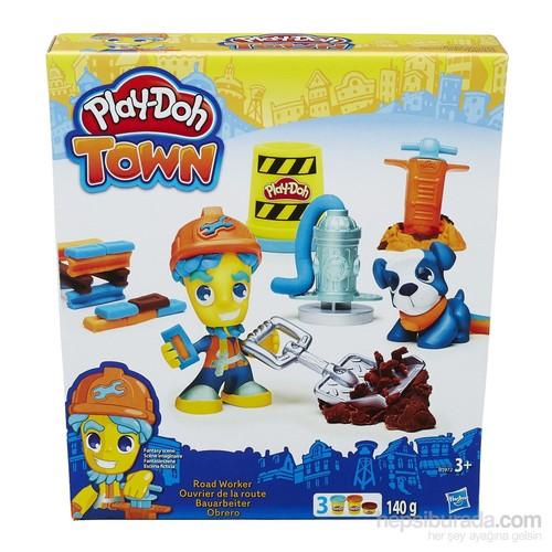 Play-Doh Town Belediye Çalışanı Ve Köpeği